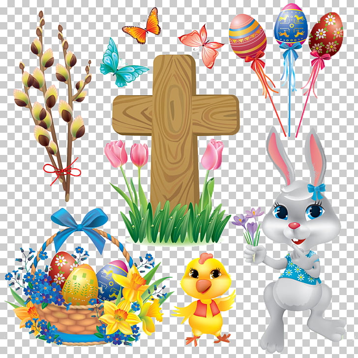 Easter Bunny Christian symbolism , Creative Easter PNG.