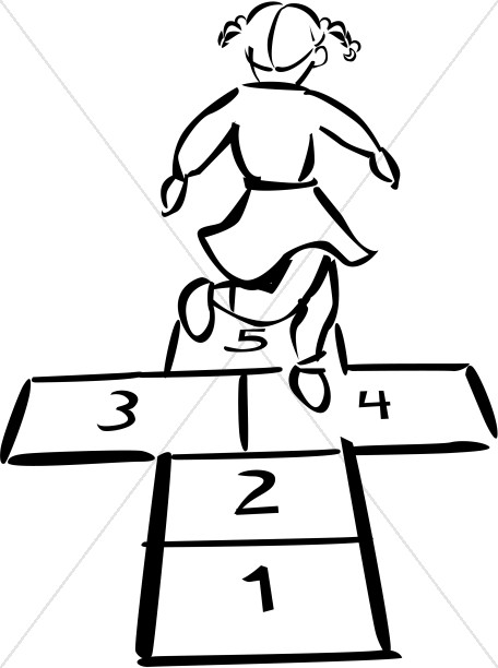 Hopscotch in Black and White.