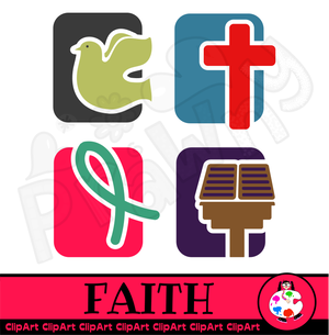 Christian Faith Icons.