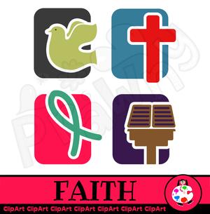 Christian Faith Icons.
