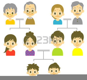 African American Christian Family Clipart.