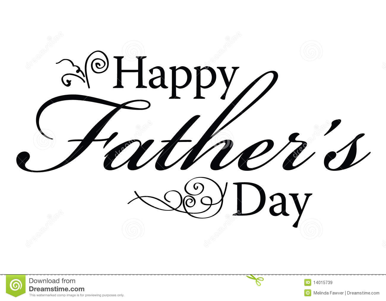 Happy Father's Day Type stock vector. Illustration of father.