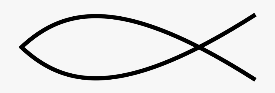 Christian Fish Thin Line Transparent Png.