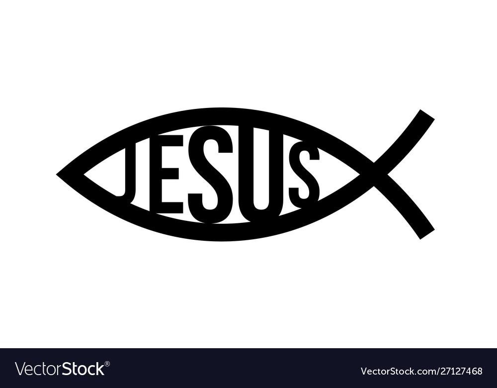 Christian fish symbol jesus fish icon religious.