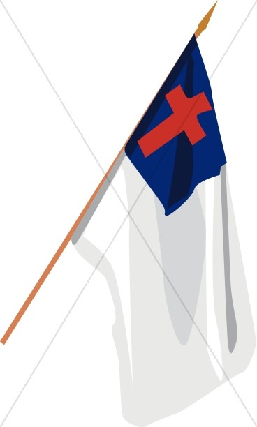 Hanging Christian Flag.