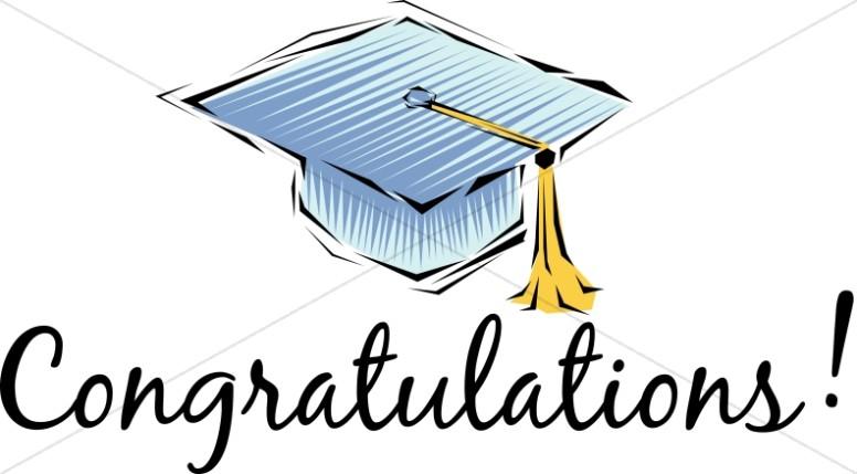Congratulations! Cap and Tassel.