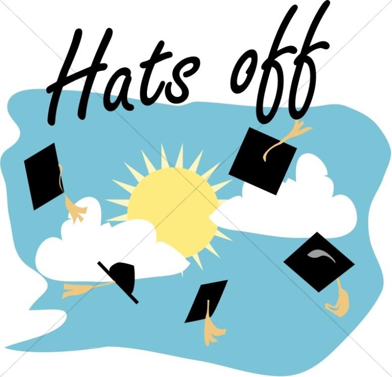 Graduation Caps Off.