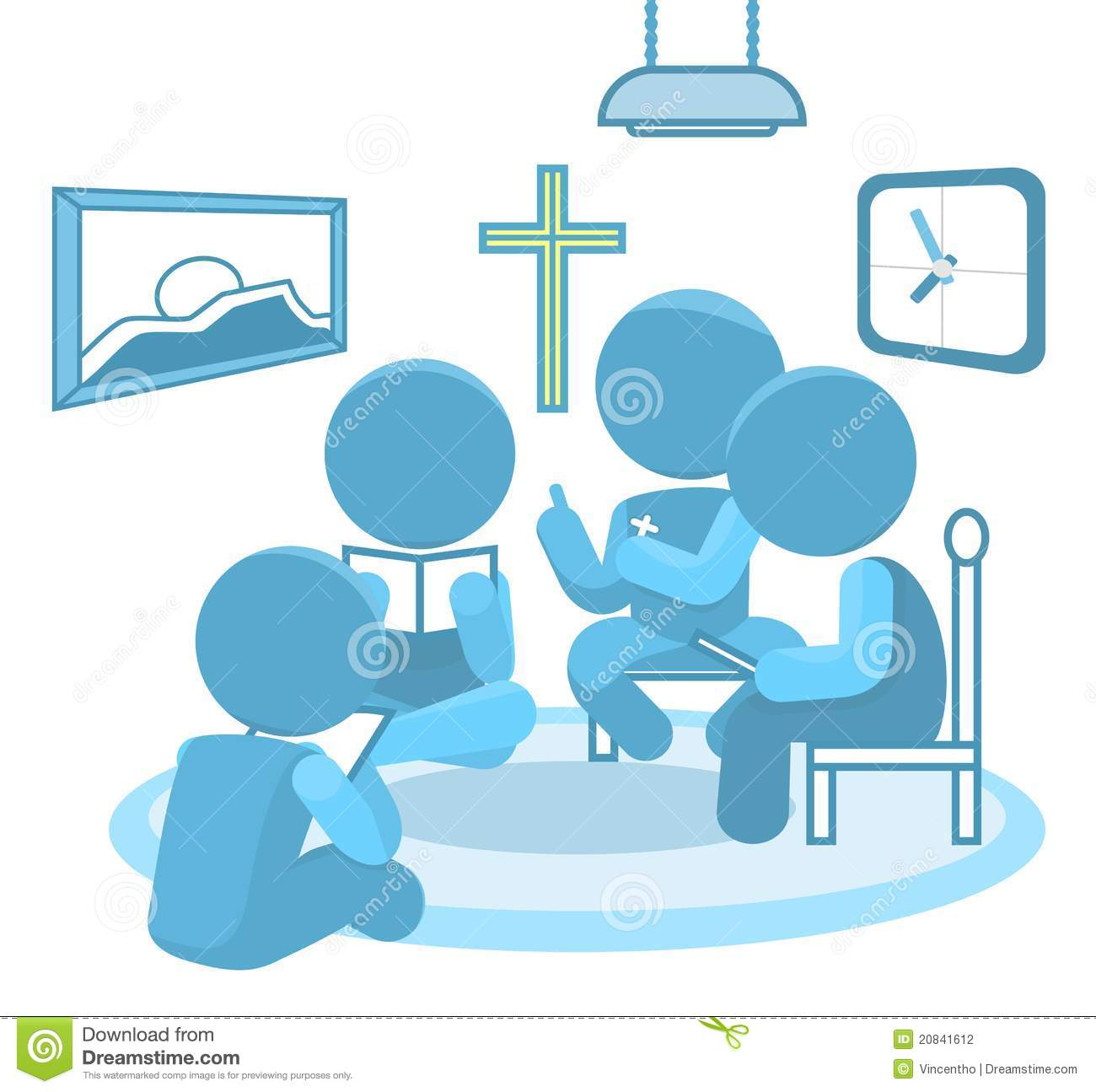 Bible Study Small Groups Christianity Illustration Stock.