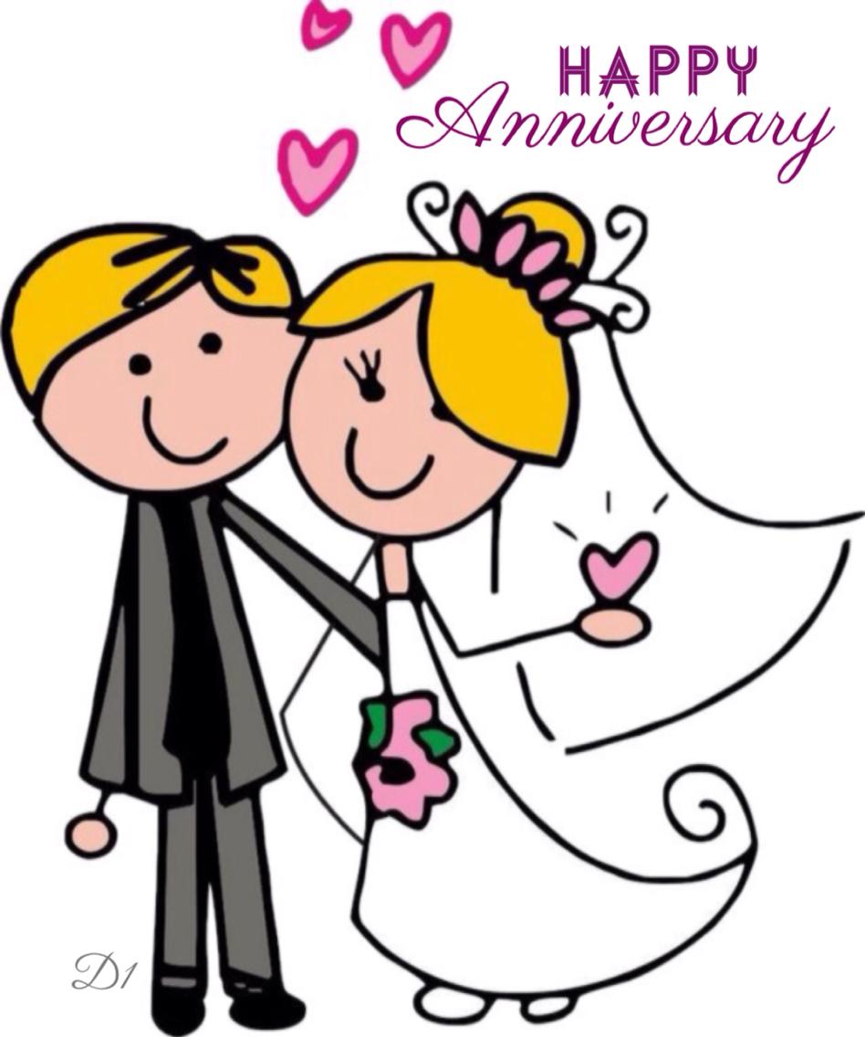 Wedding Anniversary Clipart.