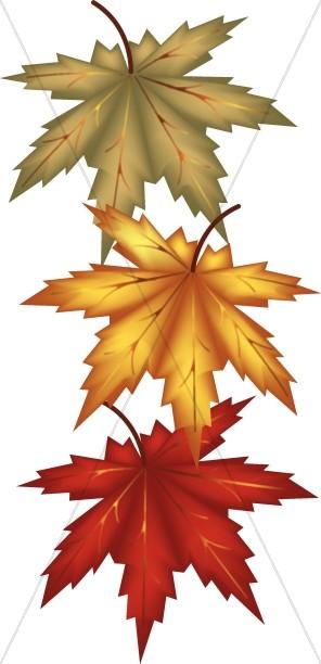 Autumn Leaves Religious Clipart.