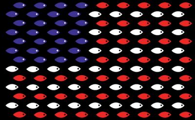 Image: Christian Fish Flag.