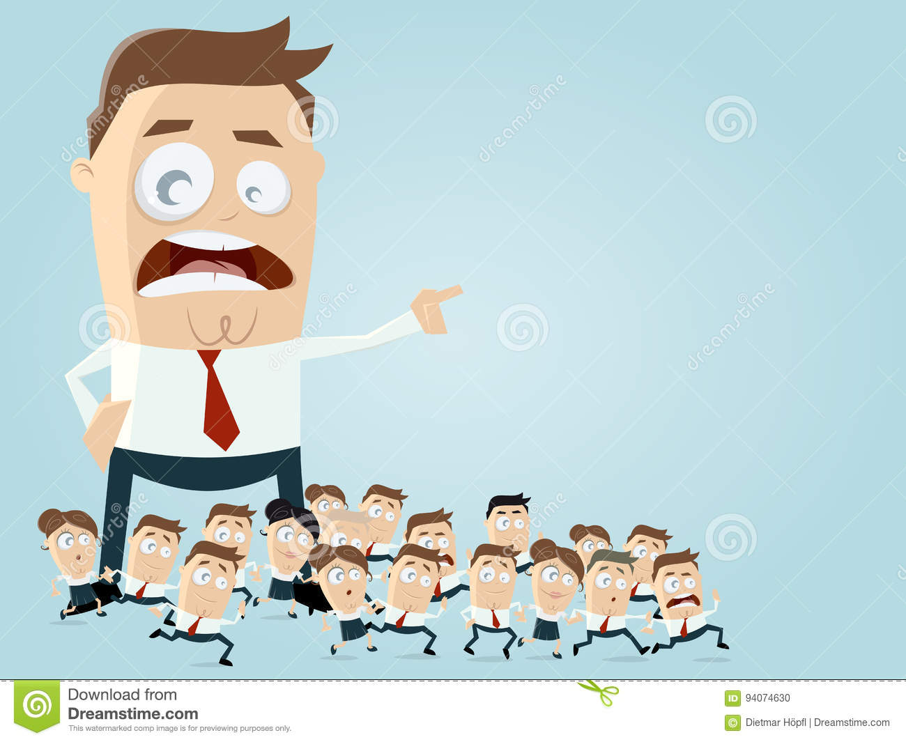 Leadership Business Clipart Stock Vector.