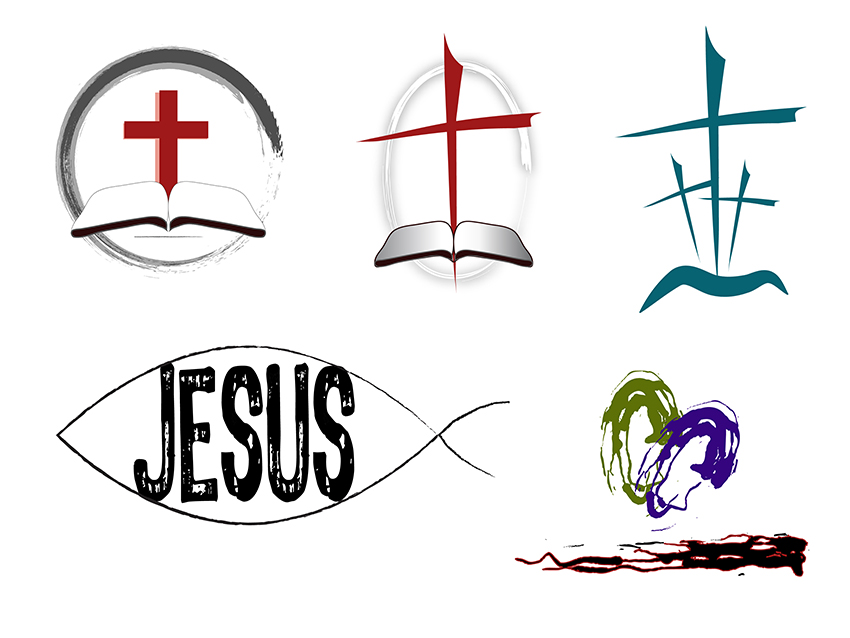 5 Religious Icon Clip Art Images.