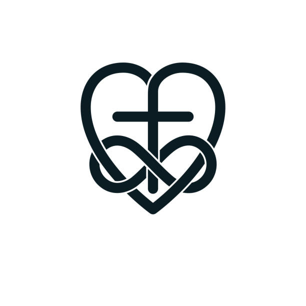 Immortal God Christian Love Conceptual Symbol Design Illustrations.