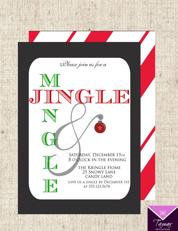 Holiday Party Jingle And Mingle Clipart.