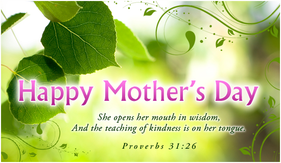 Happy Mother\'s Day Love Christian Website Banner.