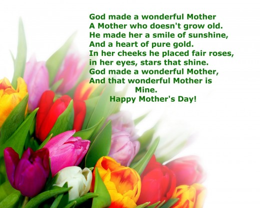 Celebrate Mother's Day with Bible verses, prayers and poems for.