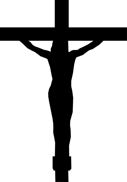 Christ With Cross Silhouette transparent PNG.