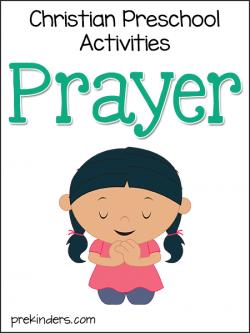 Christian activities prekinders. Preschool clipart prayer.