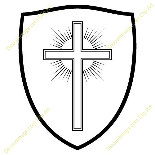 Shield With Cross Clipart.