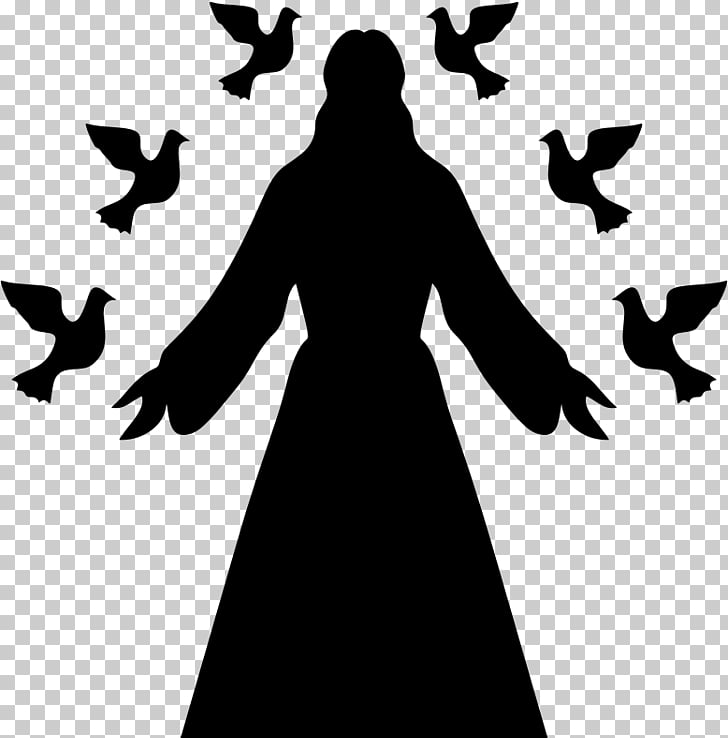 Silhouette Christian cross , God PNG clipart.
