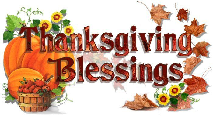 Blessed Thanksgiving Clip Art.