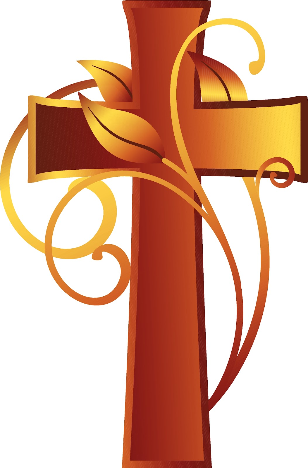 Free christian ushers with a cross clipart image.