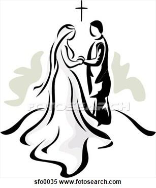 Christian Wedding Clipart.