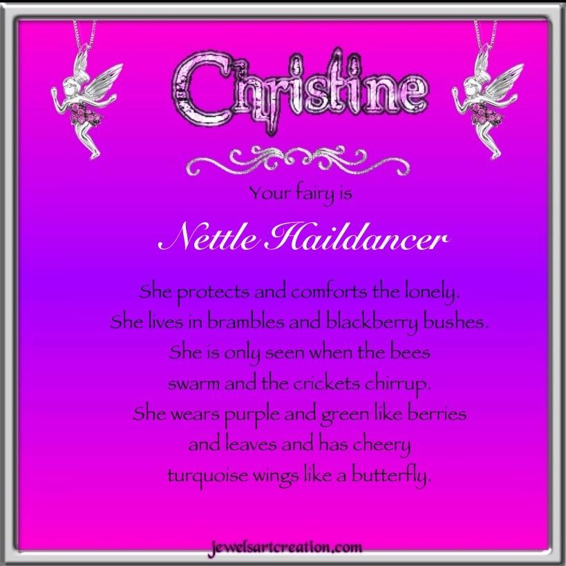 Christine Fairy Name ~ Jewels Art Creation.