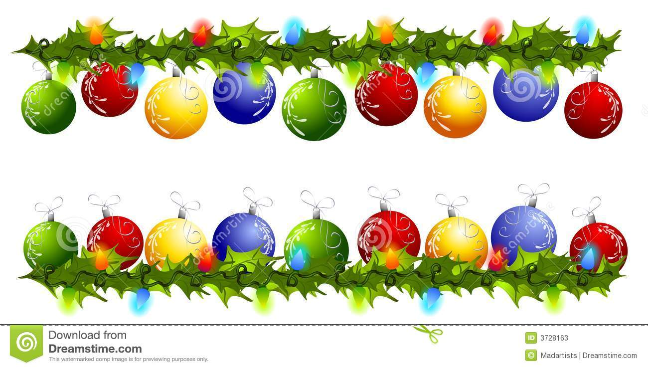 christmas ornament border clipart free #1