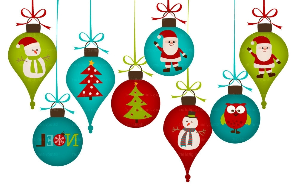 Clip Art. Christmas Ornaments Clipart. Stonetire Free Clip Art Images.
