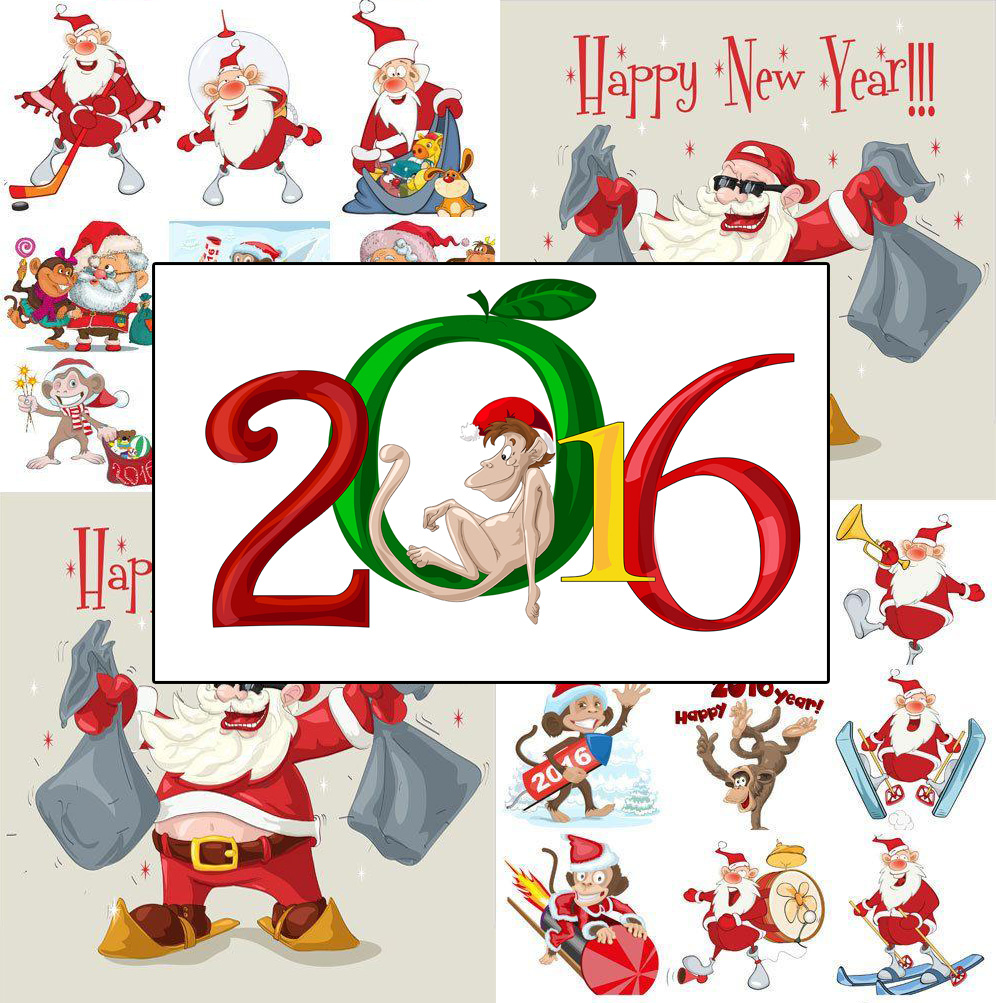 year of the monkey new year clipart #3