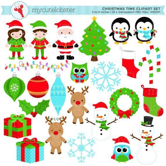 Christmas, Holiday Clipart Set.