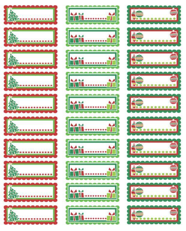christmas address label templates.
