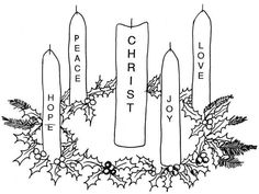 Advent Clipart Black And White.