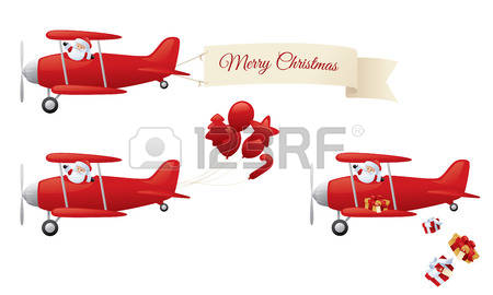 1,228 Christmas Airplane Stock Vector Illustration And Royalty.