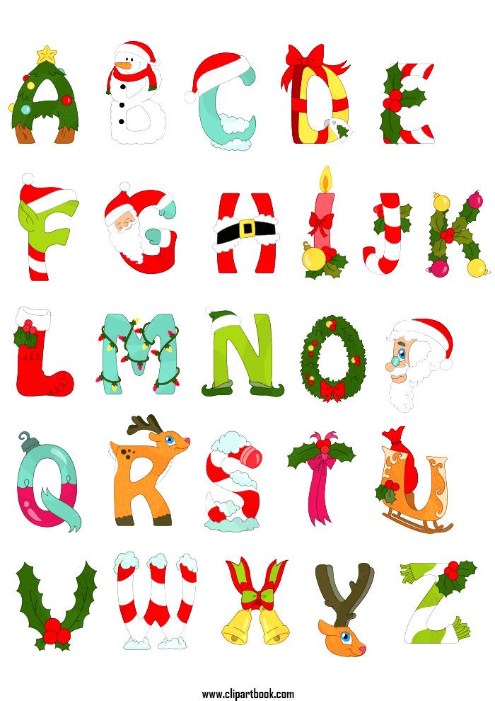 Christmas alphabet clipart clipground - Alphabet noel ...