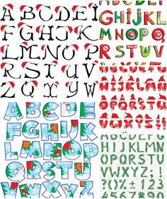Christmas Clip Art Alphabet Letters.