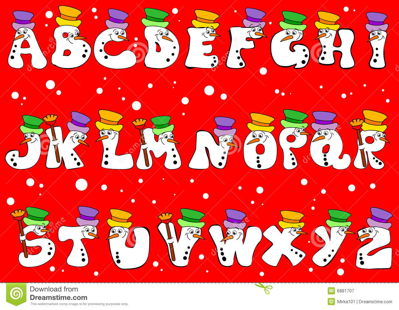 Christmas Alphabet Royalty Free Stock Photography.