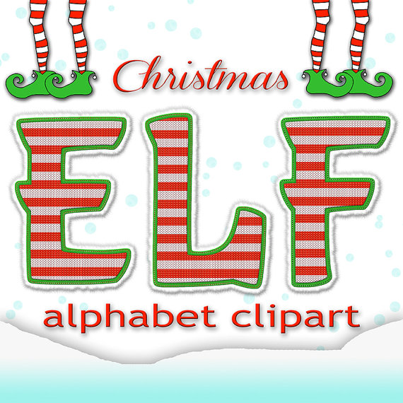 Christmas Alphabet Clipart Elf Alphabet Christmas Letters.