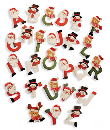 Christmas Alphabet Clipart Letters.