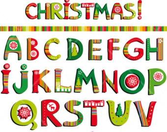 Christmas Alphabet Letters Clipart#1975410.