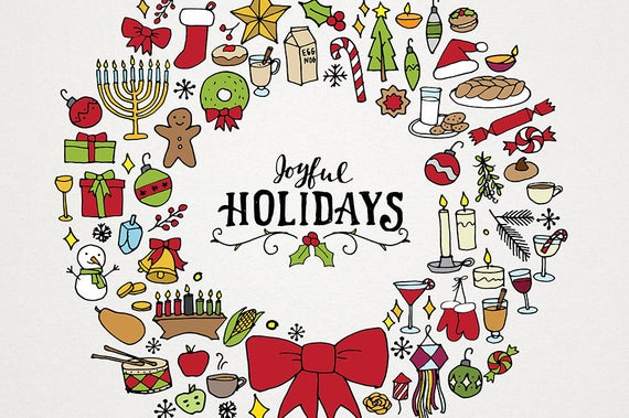 Holiday & Christmas Clipart Illustration Pack.