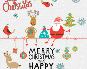 Christmas And New Year Clip Art Free.