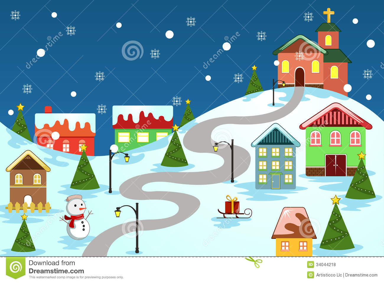 Winter christmas pictures clipart.