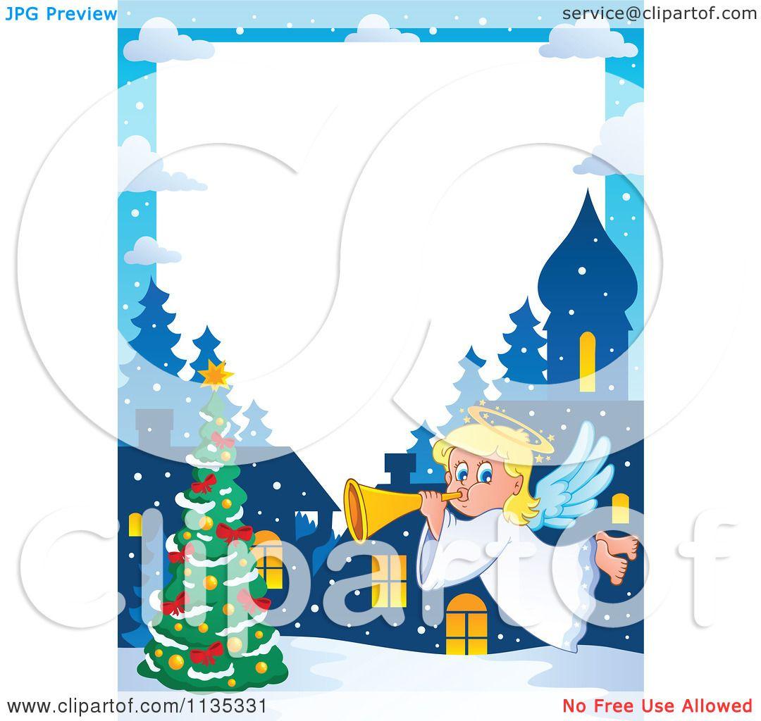 Cartoon Of A Christmas Angel Border 2.