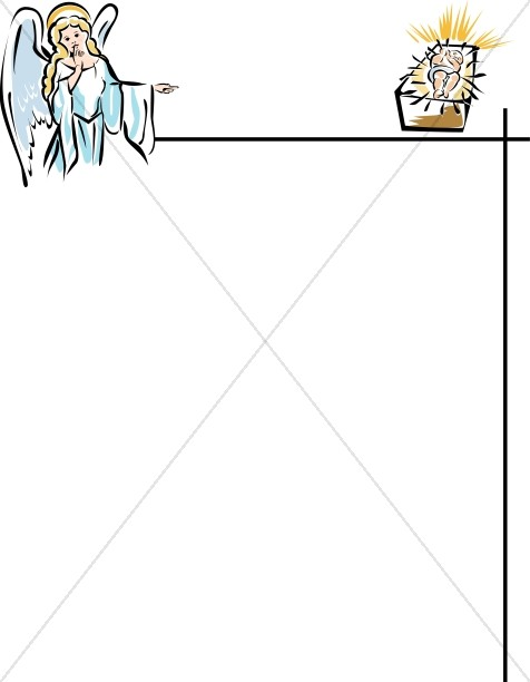Angel and Baby Jesus Page Frame.