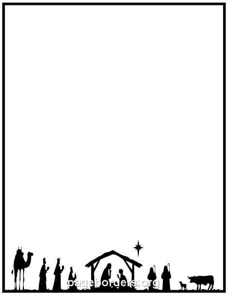 Nativity Border: Clip Art, Page Border, and Vector Graphics.