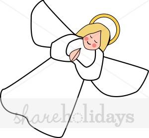 Christmas angel clip art.