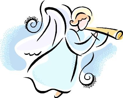 Simple christmas angel clipart.
